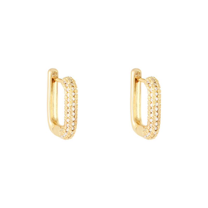 EARRINGS RECTANGLE - GOLD