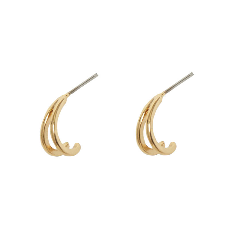 EARRINGS DOUBLE CURVE - GOLD