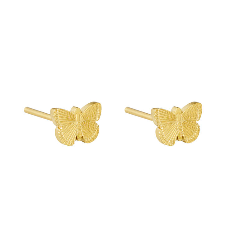EARRINGS LITTLE BUTTERFLY - GOLD