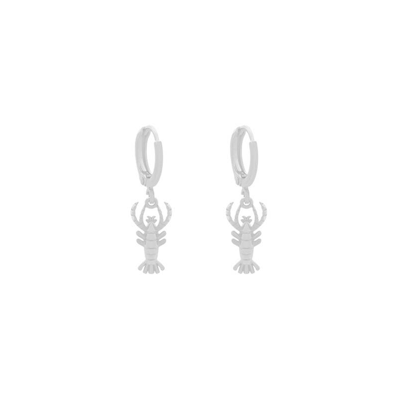 EARRINGS LOBSTER - SILVER