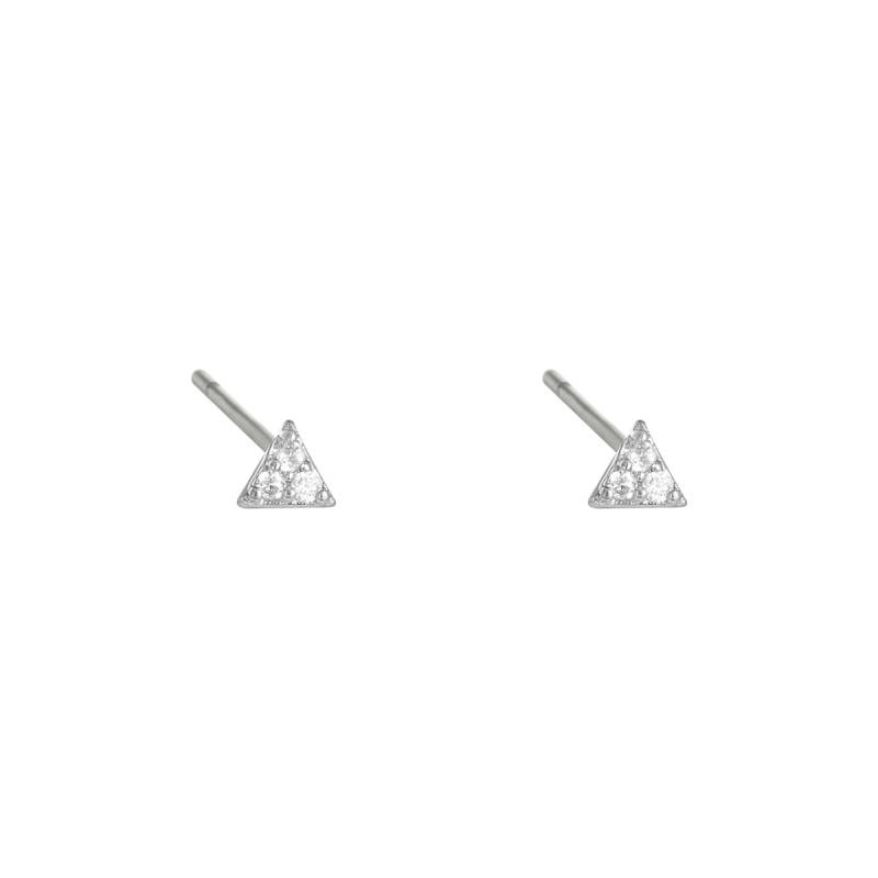 EARRINGS MINI TRIANGLE - SILVER