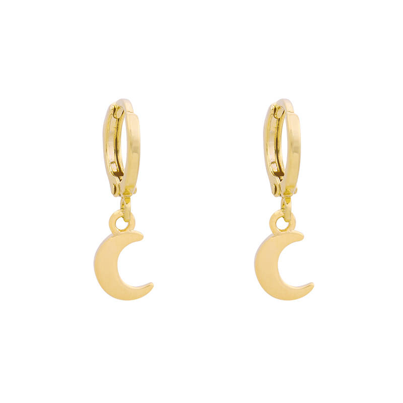 EARRINGS MOON - GOLD