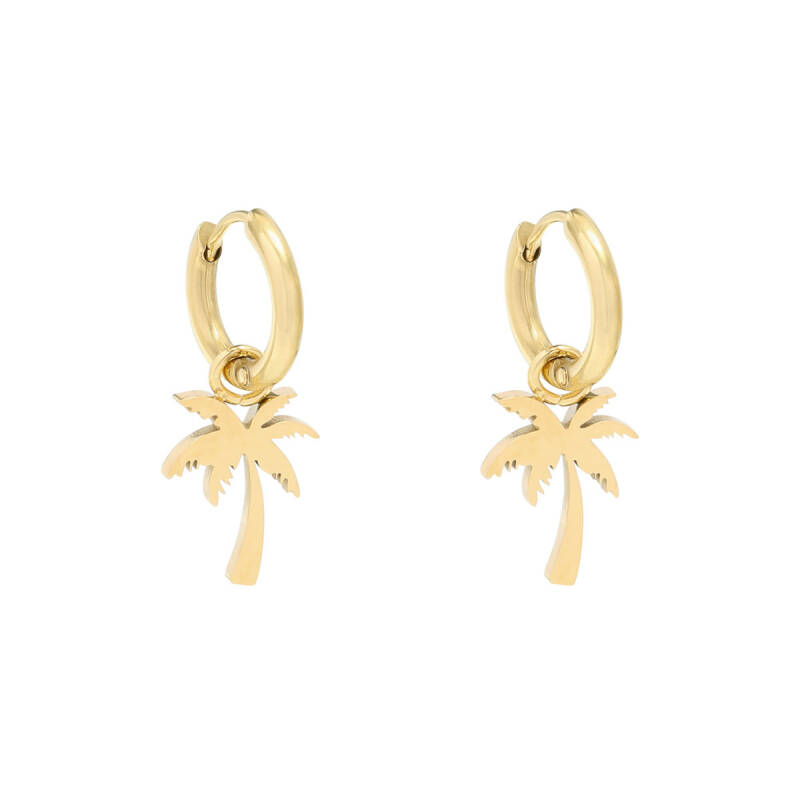 EARRINGS PALM TREE - GOLD