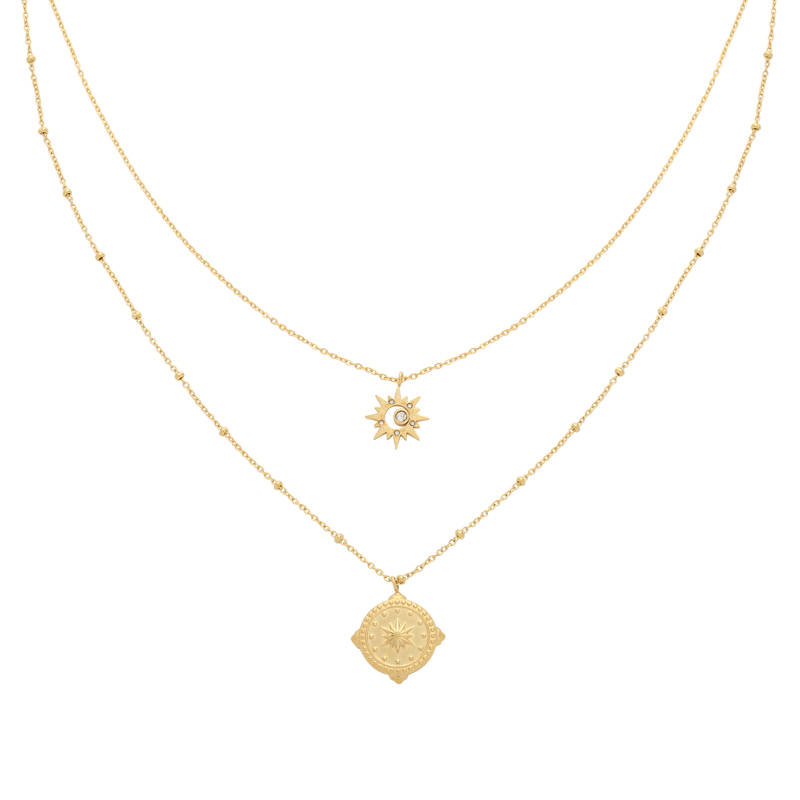 NECKLACE COMPASS STAR - GOLD