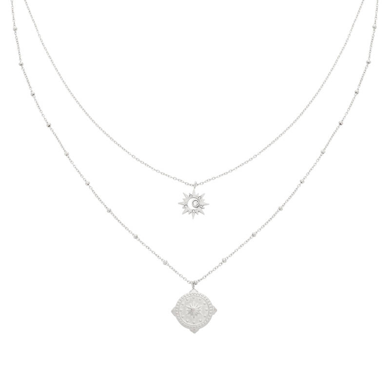 NECKLACE COMPASS STAR - SILVER