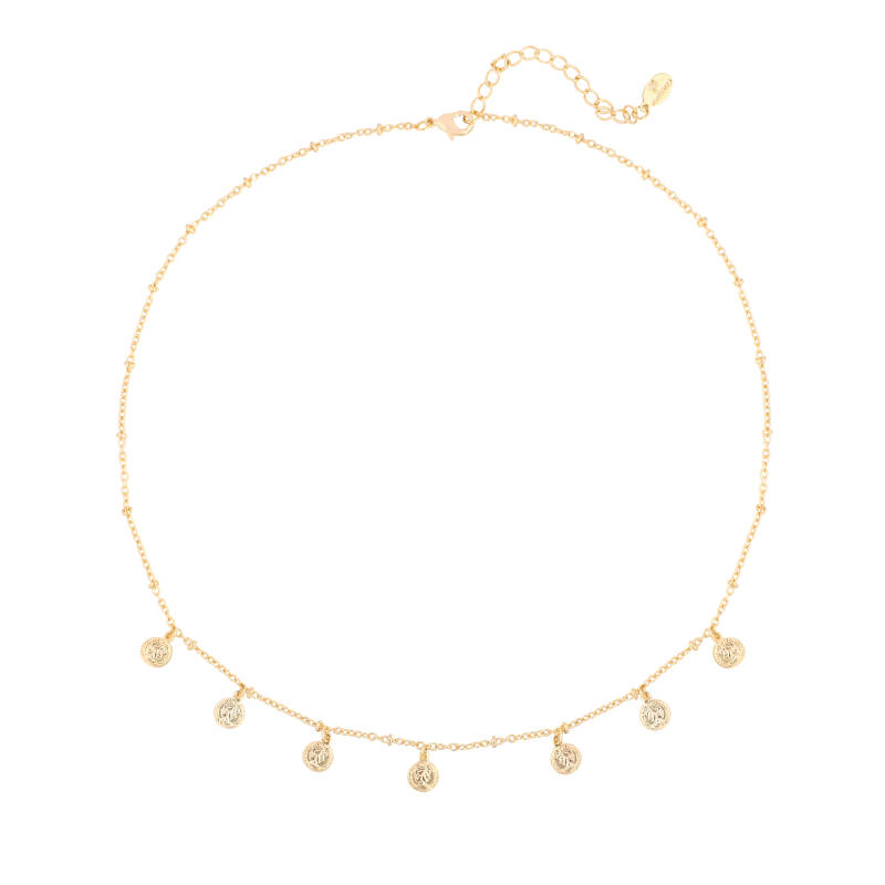 NECKLACE SMALL COINS - GOLD