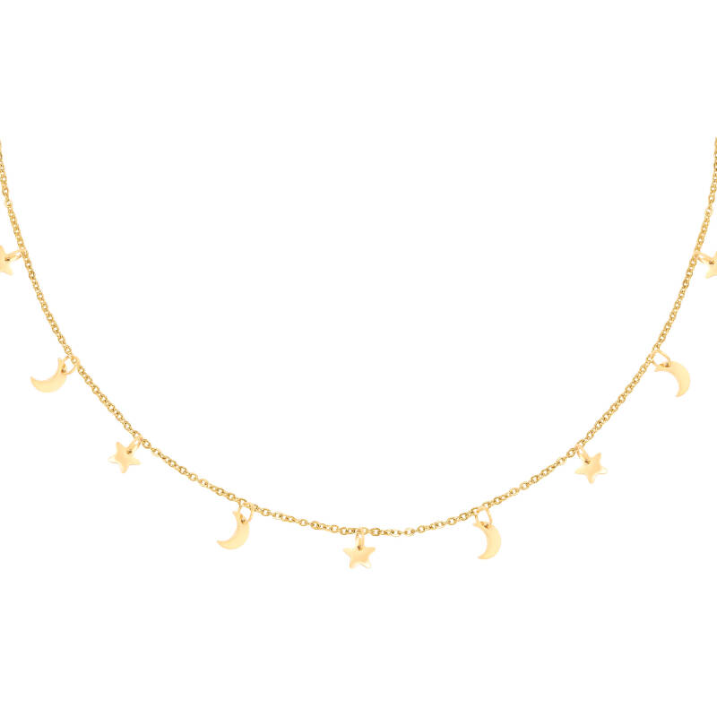 NECKLACE STAR AND MOON - GOLD