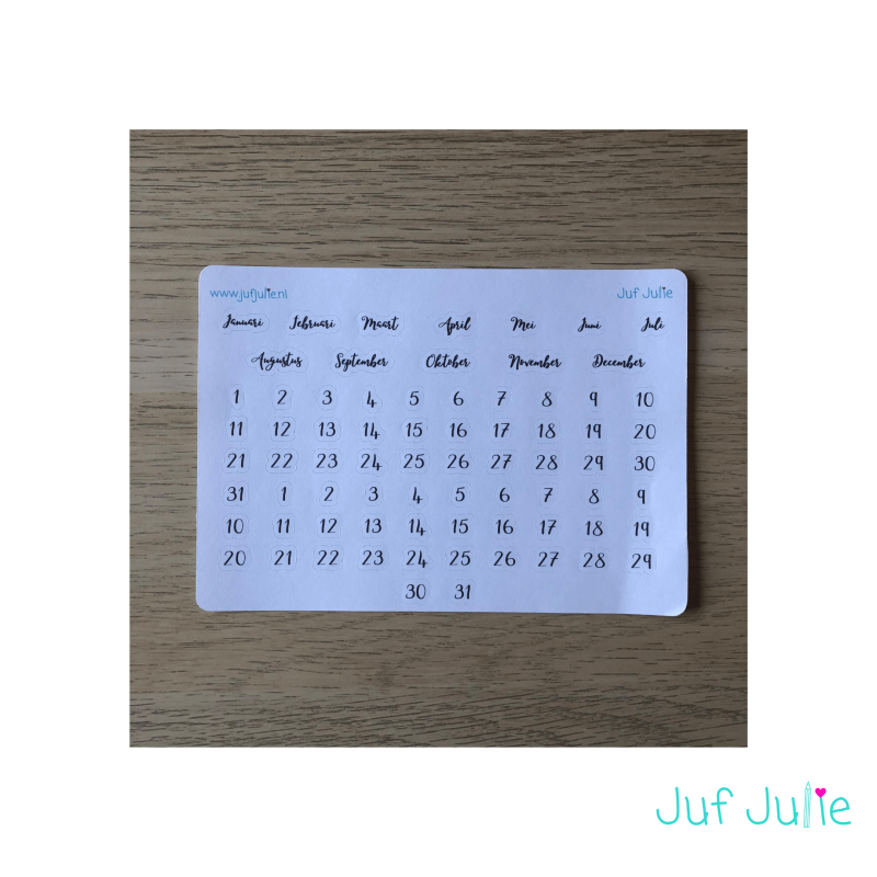 Stickers | Planner zwart
