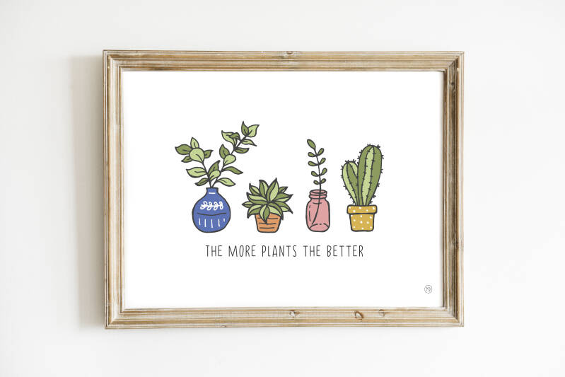 Poster | The more plants the better