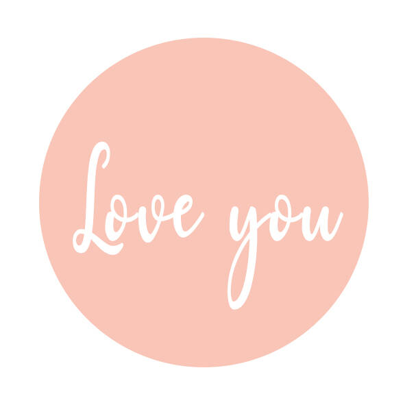 Sluitsticker | Love you