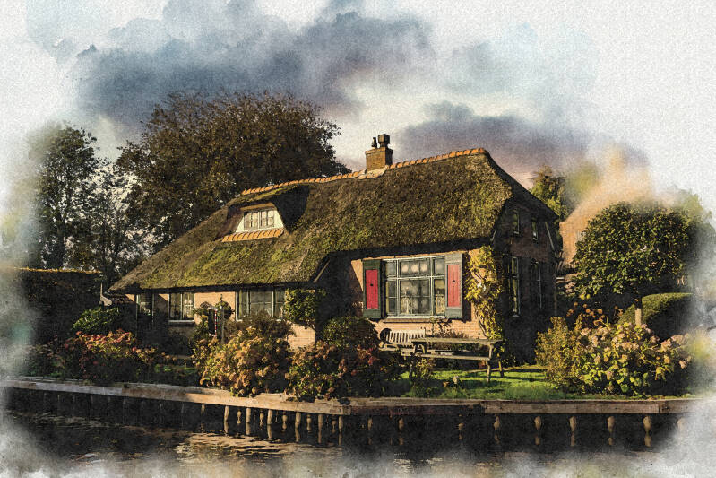 A beautiful work of art on the wall of your home - watercolor style