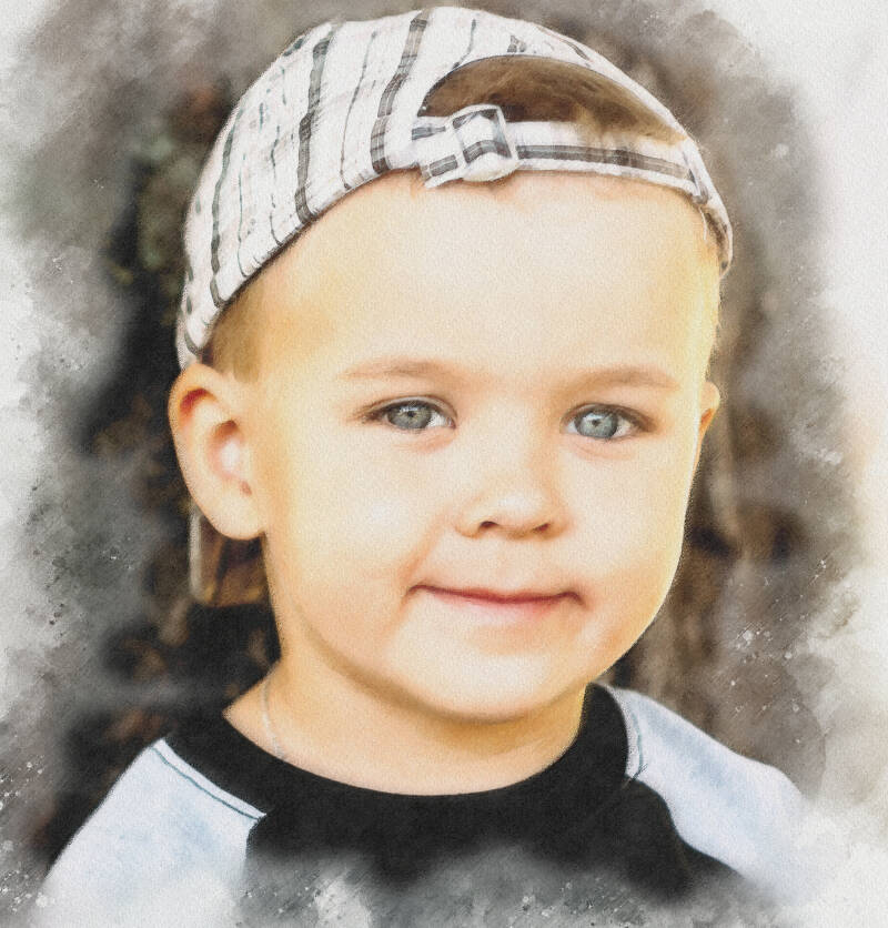 Portrait of your child / children from your photo - watercolor style