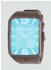 Police Men's Watch with Brown Dial Analogue Display, Backlight and Silicone Strap