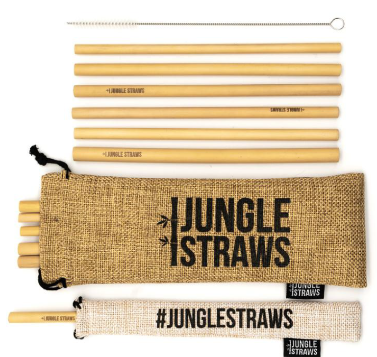 Jungle Straws 12 bamboe rietjes