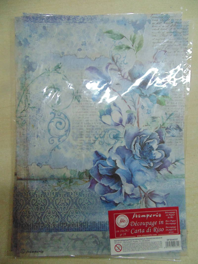 Stamperia Blue Land Flower A4