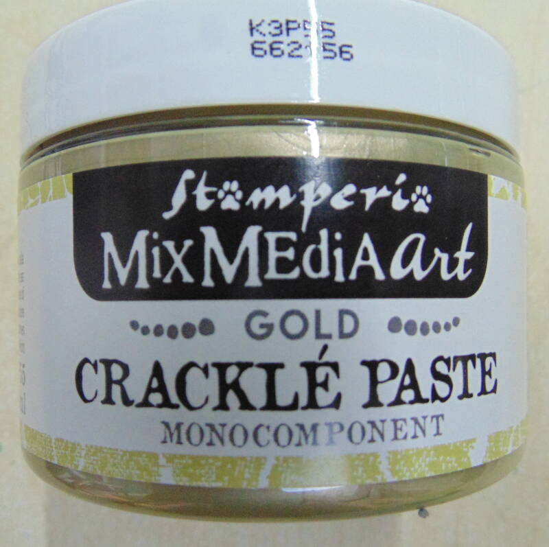 Stamperia Crackle Paste Gold 150 ml