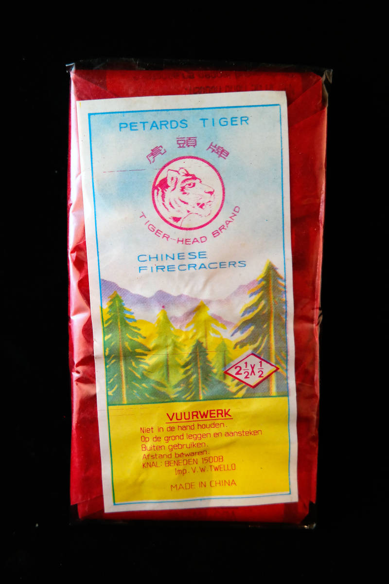 Tiger-Head brand Chinese Firecrackers, Imp: Wolff Twello