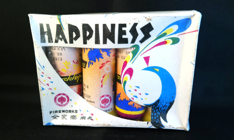 Red Lantern - Happiness 4 in doos. Importeur B.V.D. (Broekhoff). Jaren '80.
