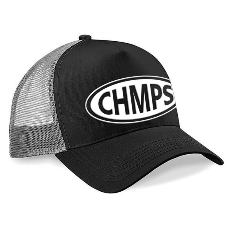 Snapback Trucker Cap Black/Grey - CP-BLGR-0140-Oval