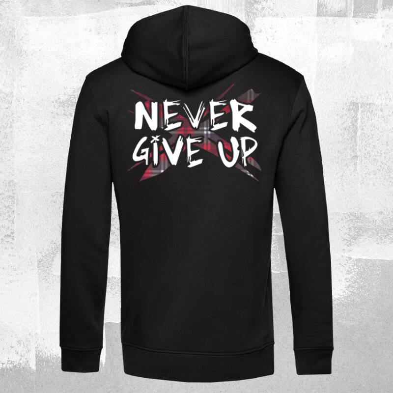 Never Give Up TartanX Hoodie Black