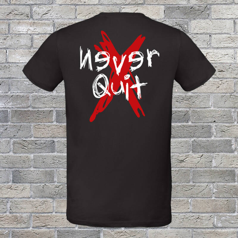 Never Quit Grunge T-shirt Black