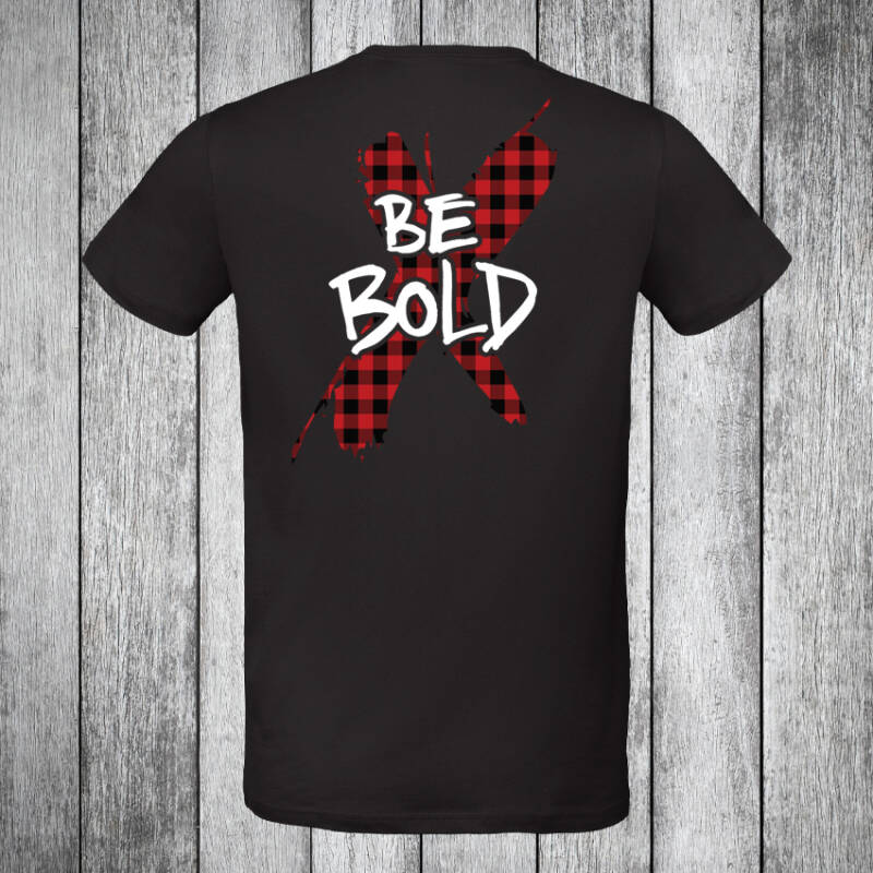 Be Bold Lumberjack T-shirt Black