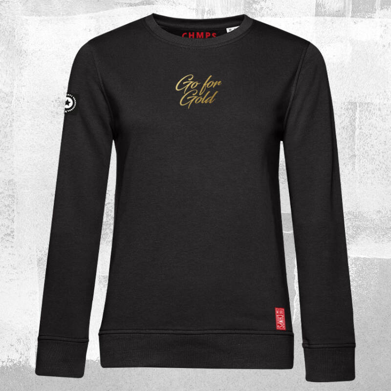 Go for Gold Dames Sweatshirt Black