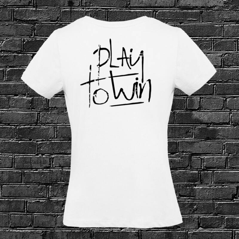 Play to Win dames T-shirt White