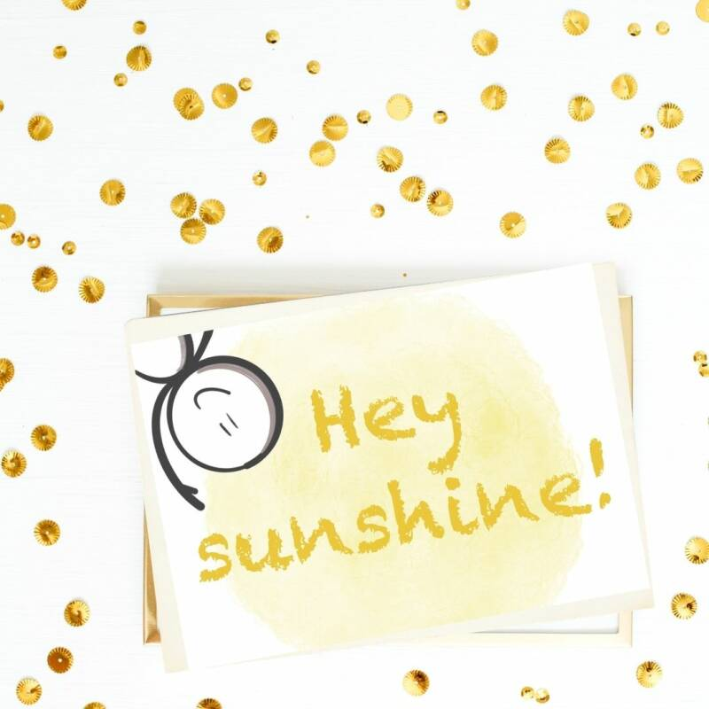 "Kaart ""Hey sunshine"""