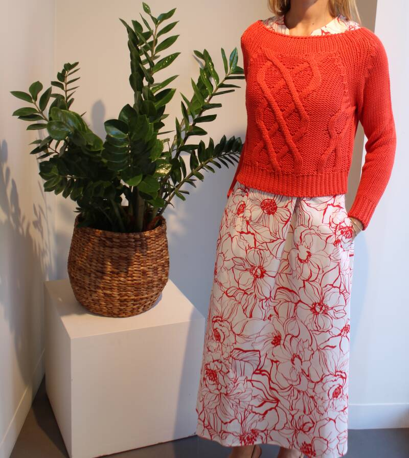 SCAPA DRESS ASTER RED