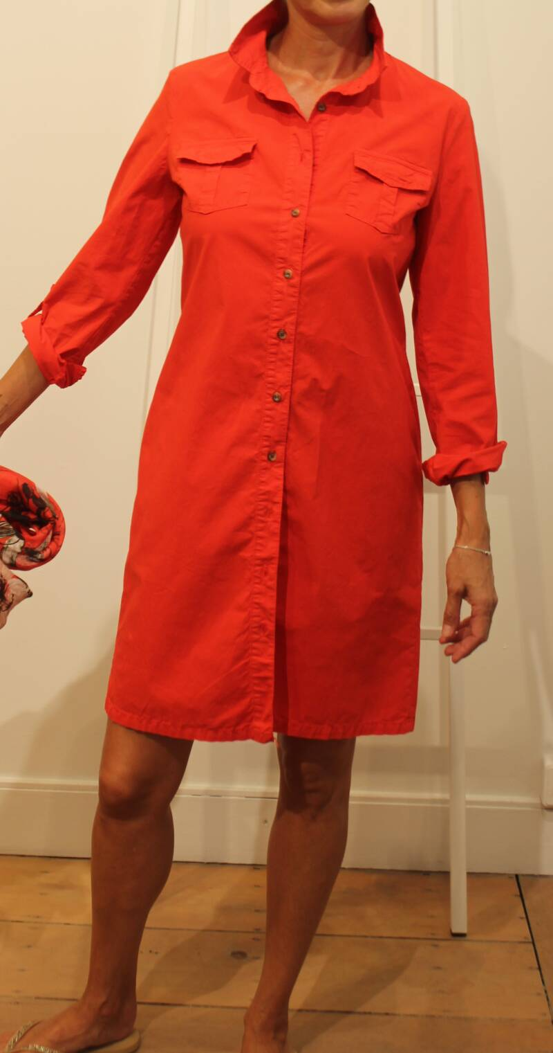 SCAPA DRESS TOPOS RED (ook in khaki)