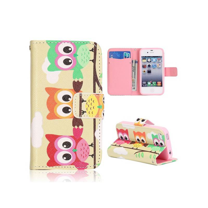 iPhone 4, 4s flip case cover hoesje uil