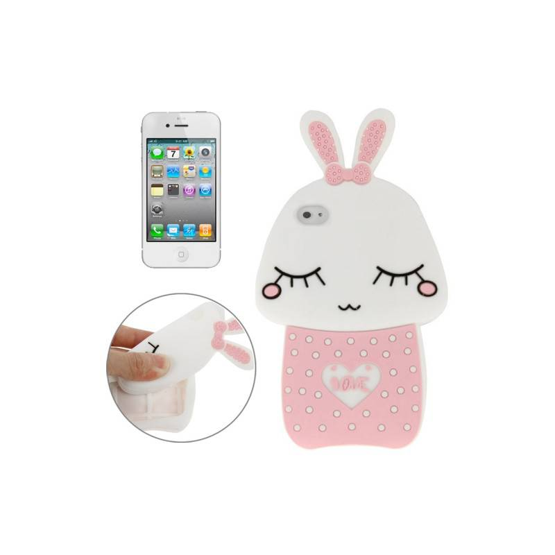 iPhone 4, 4s Silicone 3D Bunny Cover