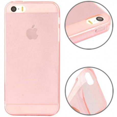 iPhone 5, 5s Transparant cover licht Roze