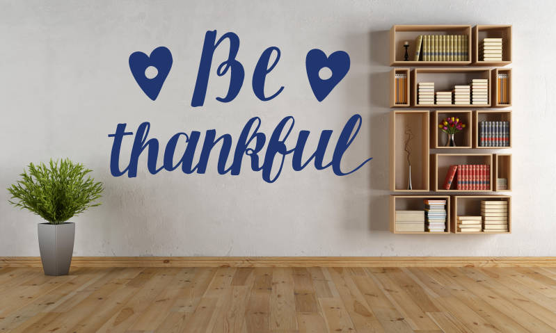 Muursticker 191117 - Be thankful