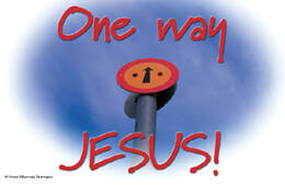 Bemoedigingskaartje CR24  -  One way Jesus!