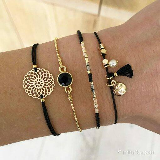 Armbandenset Indian Black