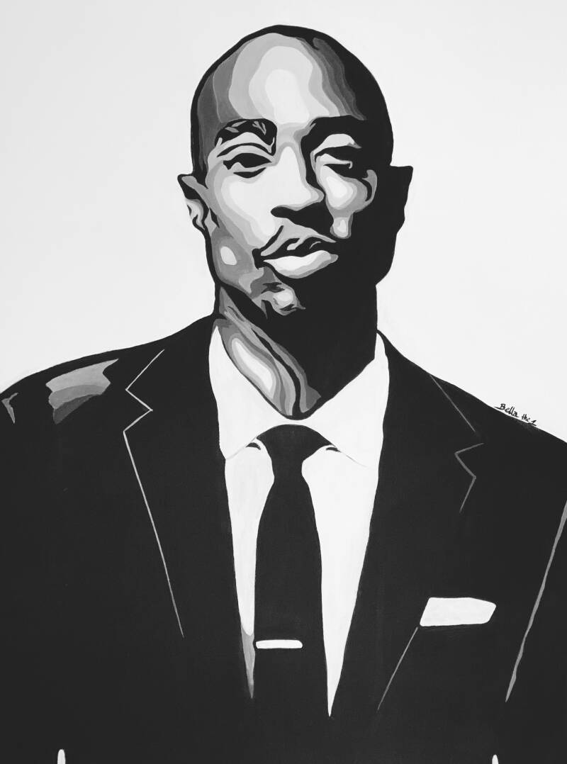 2pac Abstract Painting (Original)