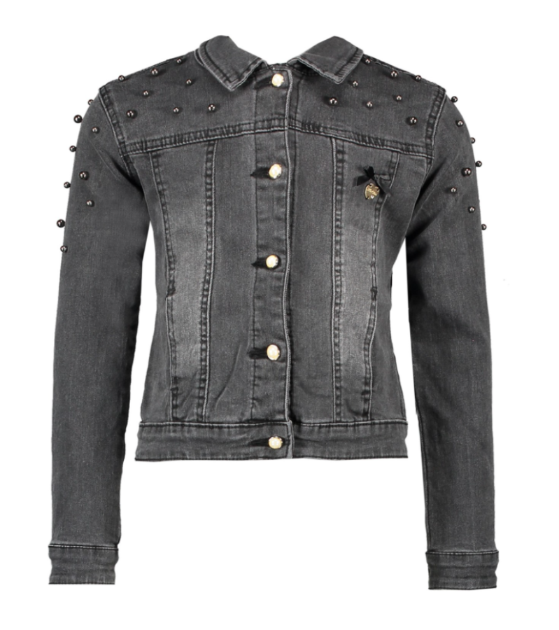 Le Chic Denim Jacket Rhinestones