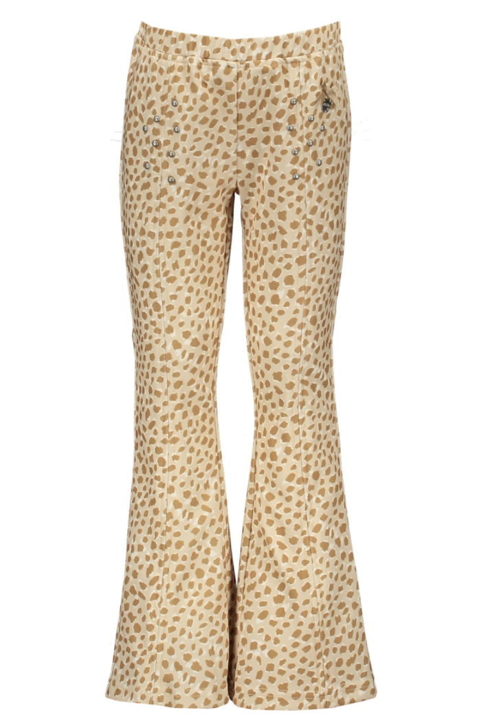 """Le Chic Flared Trousers """"Animal Dots"""""""