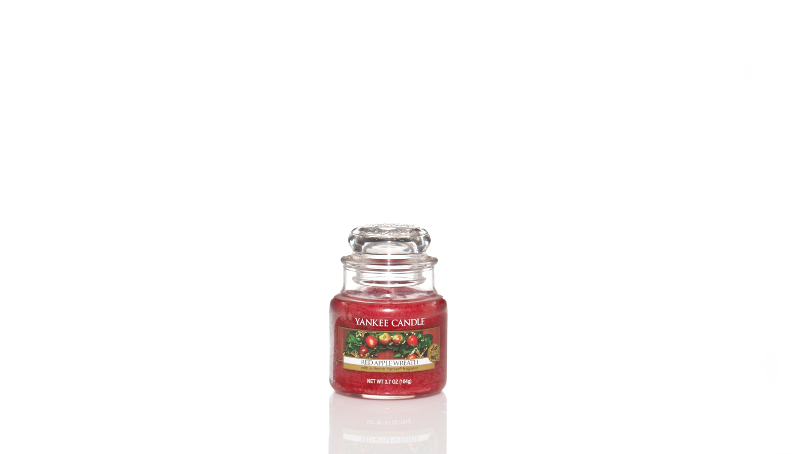 YC Red Apple Wreath Small Jar