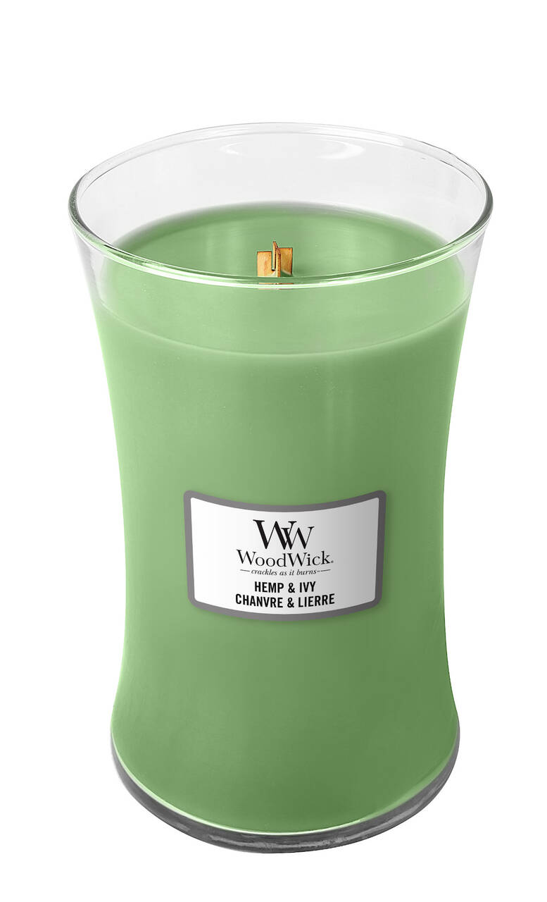 WoodWick Large Candle Hemp & Ivy