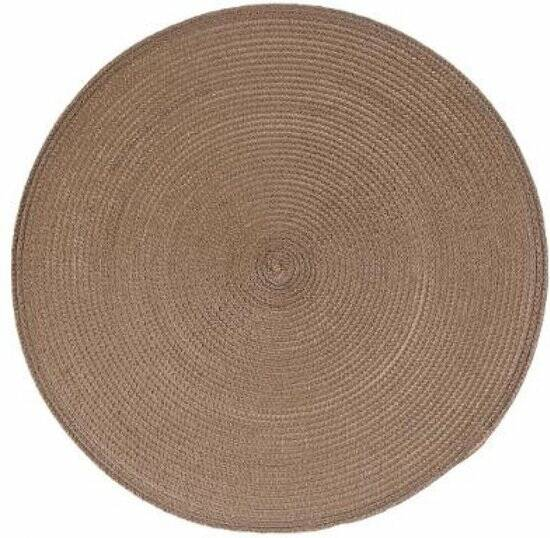 Placemat Rond taupe - Ø 38 cm - Geweven