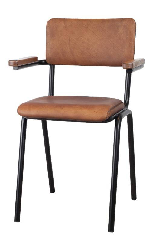 Lifestyle Schoolchair with arms light brown