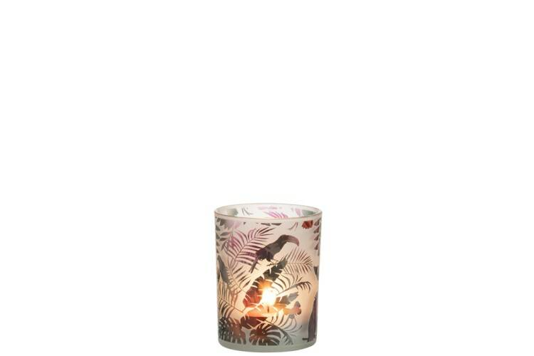 Windlicht Toekan Jungle Glas Mix Medium