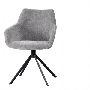 LIFESTYLE - JOHNSON ROTATING DINING CHAIR CROWN - GREY