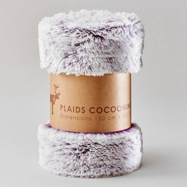 FLUFFY PLAIDS COCOONING Bordeaux