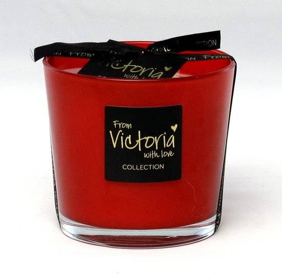 Victoria with Love - Geurkaars - Glossy red  - Small