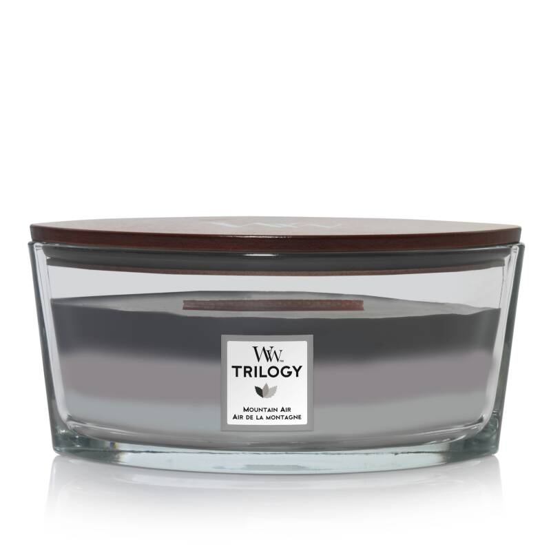 WoodWick Trilogy HearthWick Flame Ellipse Candle Mountain Air