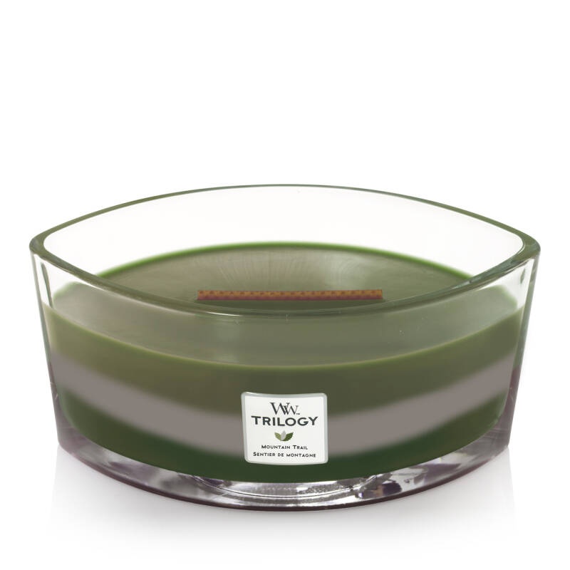 WoodWick Trilogy HearthWick Flame Ellipse Candle Mountain Trail